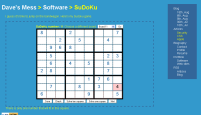 Thumbnail of the sudoku page in action.
